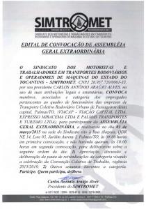 EDITAL DE CONVOCAÇÃO - AGE 01.03.2015 TRANSP. URBANO DE PASSAGEIROS - PALMAS TO25022015_0000