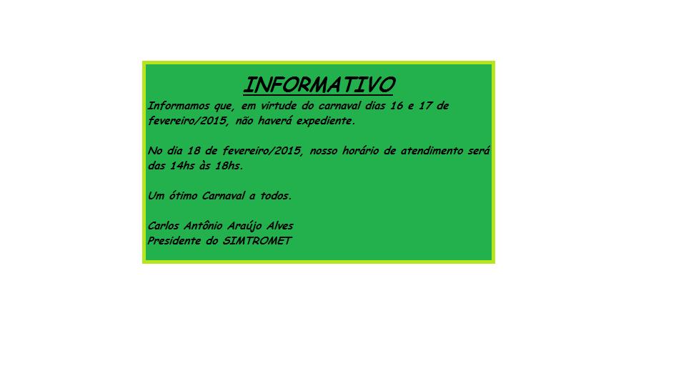 Informativo SIMTROMET